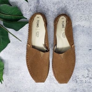 New Toms | Dark Amber Suede Leather Wrap Classics